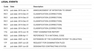 Full Patent View - Legal Events